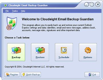 Email Backup Guardian for Outlook Express
